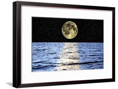 Moon Over the Sea, Composite Image-Victor De Schwanberg-Framed Art Print