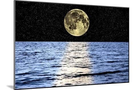 Moon Over the Sea, Composite Image-Victor De Schwanberg-Mounted Photographic Print