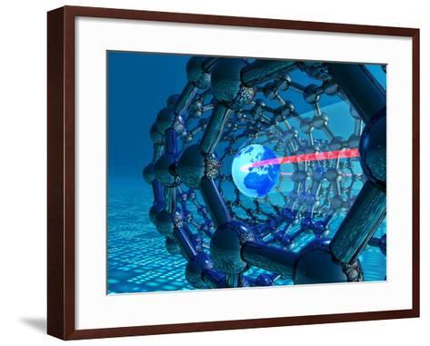 Nanotube Technology, Conceptual Artwork-Laguna Design-Framed Art Print