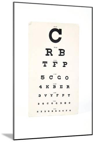Eyesight Test Chart-Gregory Davies-Mounted Photographic Print