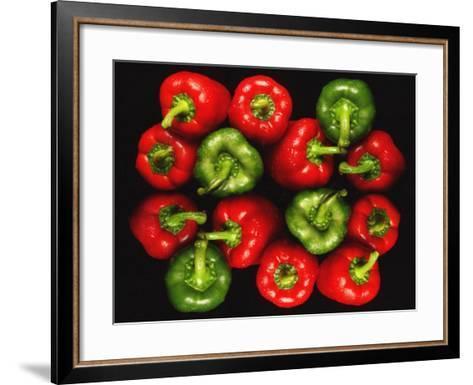 Red And Green Peppers-Victor De Schwanberg-Framed Art Print