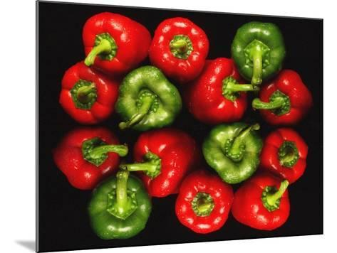 Red And Green Peppers-Victor De Schwanberg-Mounted Photographic Print