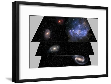 Multiverse Layers, Artwork-Victor De Schwanberg-Framed Art Print