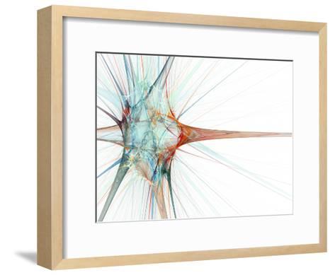 Nerve Cell, Abstract Artwork-Laguna Design-Framed Art Print