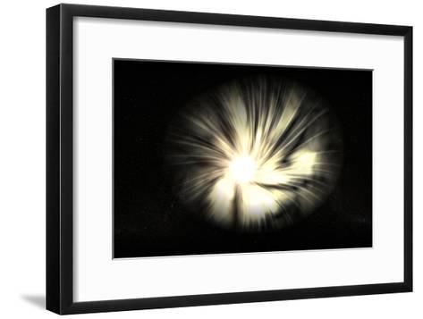 Black Hole-Christian Darkin-Framed Art Print