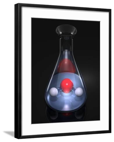 Water Molecule In a Flask, Artwork-Laguna Design-Framed Art Print