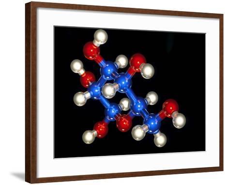 Glucose Molecule-Laguna Design-Framed Art Print