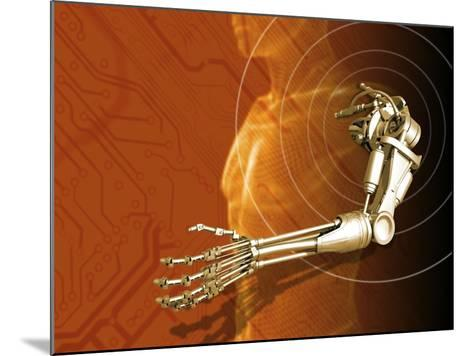 Prosthetic Robotic Arm, Computer Artwork-Victor Habbick-Mounted Photographic Print