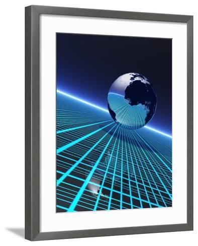 Futuristic Earth, Conceptual Artwork-Victor Habbick-Framed Art Print