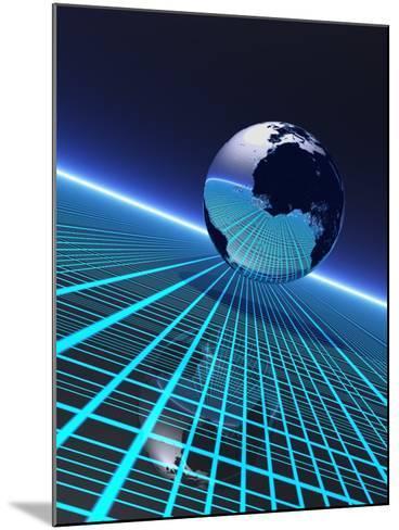 Futuristic Earth, Conceptual Artwork-Victor Habbick-Mounted Photographic Print