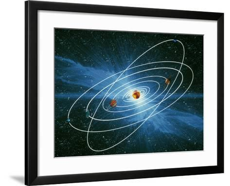 Artwork of the Orbits of the Planets-Victor Habbick-Framed Art Print