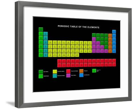 Standard Periodic Table, Element Types-Victor Habbick-Framed Art Print