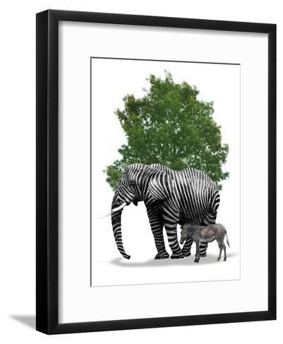 Genetic Engineering, Conceptual Image-Victor Habbick-Framed Art Print