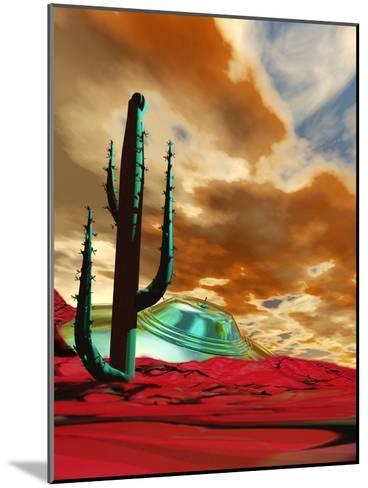 Crashed Alien Spacecraft-Victor Habbick-Mounted Photographic Print