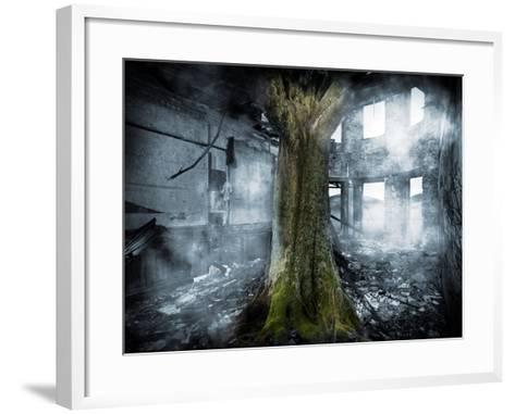 Dystopia, Conceptual Artwork-Victor Habbick-Framed Art Print