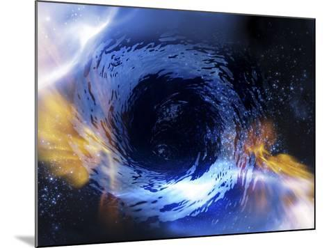 Black Hole, Conceptual Artwork-Victor Habbick-Mounted Photographic Print