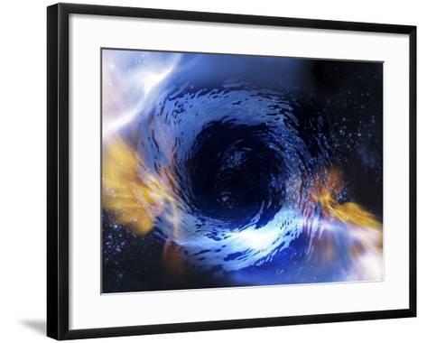 Black Hole, Conceptual Artwork-Victor Habbick-Framed Art Print
