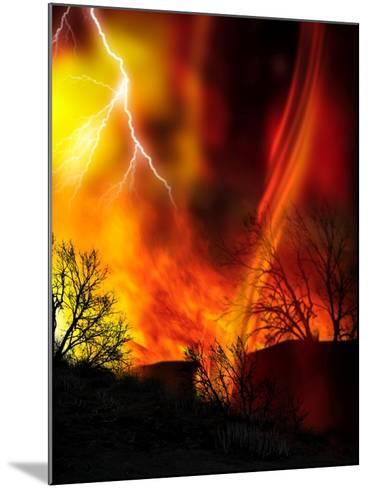 Fire Whirl, Artwork-Victor Habbick-Mounted Photographic Print