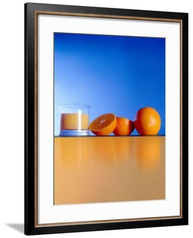 Oranges And Orange Juice-Victor Habbick-Framed Art Print