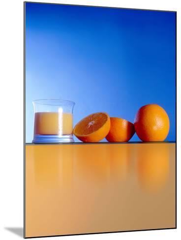 Oranges And Orange Juice-Victor Habbick-Mounted Photographic Print