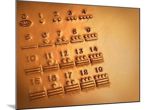 Maya Numerals, Artwork-Victor Habbick-Mounted Photographic Print