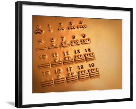 Maya Numerals, Artwork-Victor Habbick-Framed Art Print