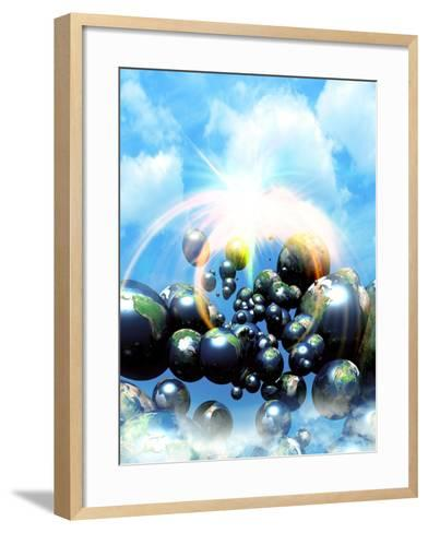 Multiple Dimensions, Conceptual Artwork-Victor Habbick-Framed Art Print