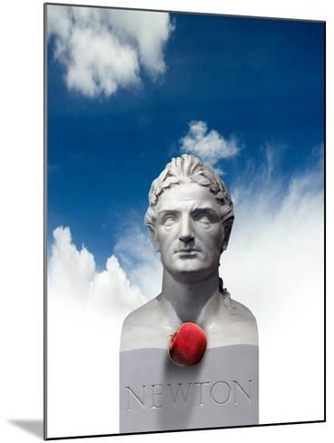 Issac Newton And the Apple, Artwork-Victor Habbick-Mounted Photographic Print
