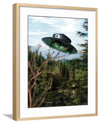 Alien Spaceship-Victor Habbick-Framed Art Print
