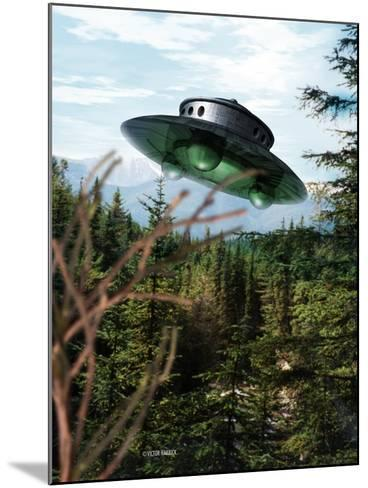 Alien Spaceship-Victor Habbick-Mounted Photographic Print