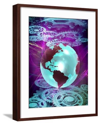 Quantum Mechanics, Conceptual Artwork-Victor Habbick-Framed Art Print