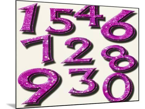 Computer Artwork of Numbers 0-9 Used In Numerology-Victor Habbick-Mounted Photographic Print