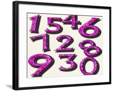 Computer Artwork of Numbers 0-9 Used In Numerology-Victor Habbick-Framed Art Print