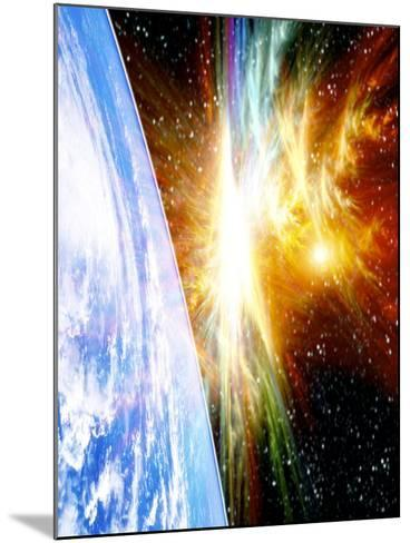 Solar Flare Threatening Earth-Victor Habbick-Mounted Photographic Print