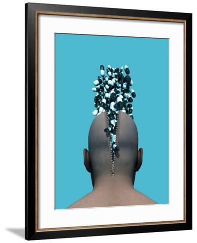 Affect of Drugs on Mental Health, Artwork-Victor Habbick-Framed Art Print
