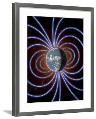 Earth's Magnetic Field-Roger Harris-Framed Art Print