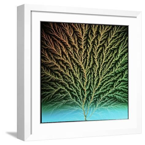 Electron Tree In a Block of Plastic-Steve Horrell-Framed Art Print