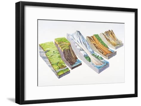 Landslide Types-Gary Hincks-Framed Art Print