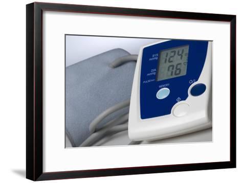 Digital Blood Pressure Monitor-Steve Horrell-Framed Art Print