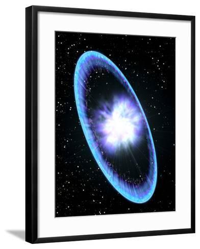 Supernova Explosion-Roger Harris-Framed Art Print