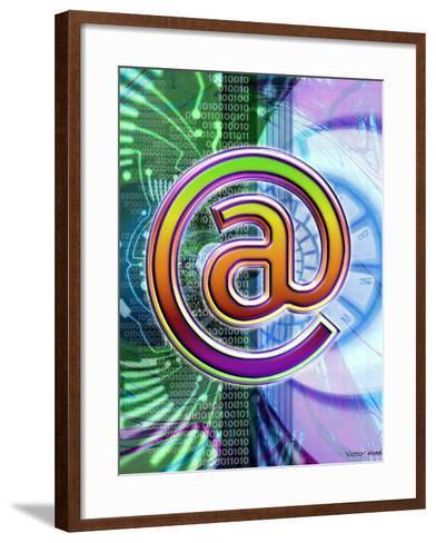 E-mail Symbol-Victor Habbick-Framed Art Print