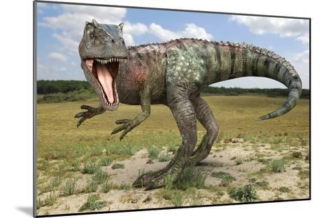 Allosaurus Dinosaur, Artwork-Roger Harris-Mounted Photographic Print