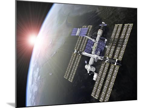 International Space Station-Roger Harris-Mounted Photographic Print