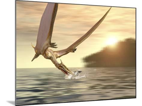 Pterosaur Fishing, Computer Artwork-Roger Harris-Mounted Photographic Print