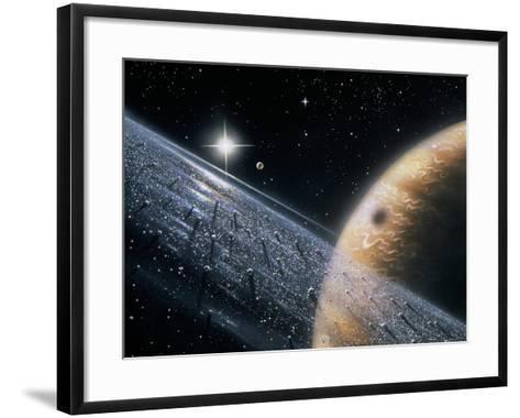 Artist's Impression of Jupiter & Its Ring-David Hardy-Framed Art Print
