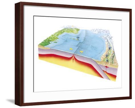 Plate Tectonics-Gary Hincks-Framed Art Print