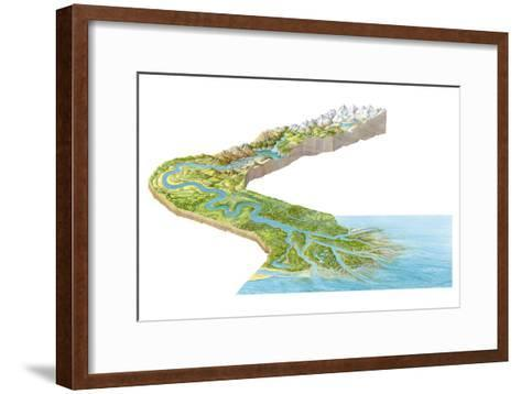 Stages of a River-Gary Hincks-Framed Art Print