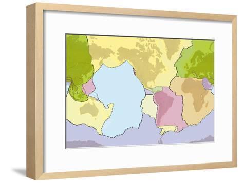 Earth's Tectonic Plates-Gary Hincks-Framed Art Print