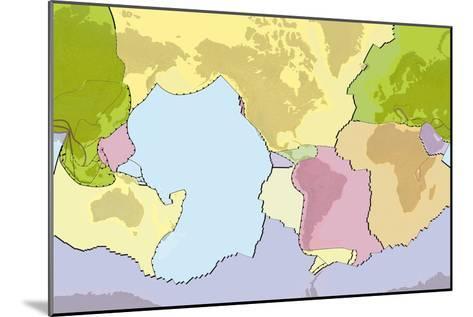 Earth's Tectonic Plates-Gary Hincks-Mounted Photographic Print