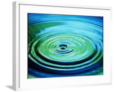 Multiple Ripples From a Water Drop-Adam Hart-Davis-Framed Art Print